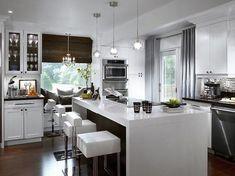 Un bar plan de travail – des idées pour l'utilisation efficace de l'espace dans la cuisine - clic sur l image