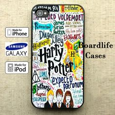 Harry Potter Quote Collage iPhone 4/4S/5/5S/5C/6 Case, iPod 4/5 Case and Samsung Galaxy S3/S4/S5 Case by BoardlifeCases on Etsy
