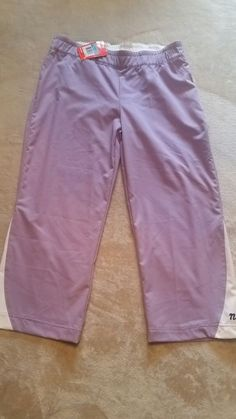 Vintage Nike Women's polyester athletic crop pants purple & white NWT Med.  | Clothing, Shoes & Accessories, Women's Clothing, Athletic Apparel | eBay!