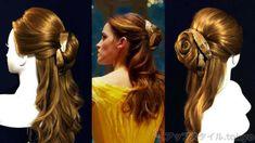 実写版「美女と野獣」エマワトソンが演じるヒロイン「ベル」が劇中で黄色いドレスにドレスアップした時の髪型の作り方を写真でわかりやすく解説しています。 Jasmine Hair, Disney Princess Hairstyles, Aladdin And Jasmine, Hair Arrange, Cosplay Costumes, Hair Beauty, Dreadlocks, Romantic, Long Hair Styles
