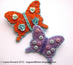 How To: Felt Butterfly Brooches