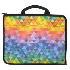 tri rainbow A4 art case from Paperchase