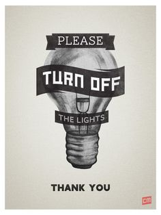turn off the light sign - Google Search