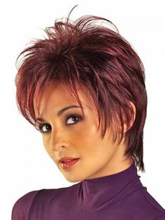 Red Boycuts Straight Cheap Short Wigs is a short, spiky style. It features razor-finished layers for vibrant texture and easy styling.