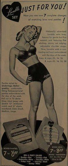 Vintage bra ad- 1940