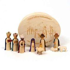Nativity Group in Wooden Box