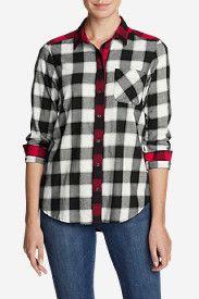 Women's Stine's Favorite Flannel Shirt - Mixed Plaid Boyfriend  No EXIF