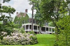 """""""Mystery Point"""" Built in 1895 in Garrison, NY as a summer retreat by Edward Livingston."""