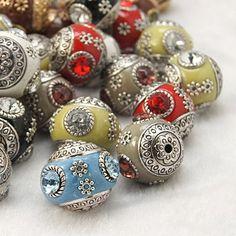 Handmade Indonesia Beads, with Brass Core