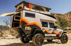 Jeep Camper Becomes The Ultimate Rock Crawling Adventure Vehicle Pickup Camper, Camper Trailers, Off Road Rv, Off Road Camper, Off Road Vehicle, Offroad, Vw T3 Doka, Jeep Camping, Jeep Wrangler Camping
