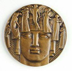 """""""Theatre"""" medal, Maurice Delannoy, Paris, 1930"""