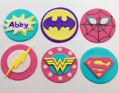 A personal favorite from my Etsy shop https://www.etsy.com/listing/231761154/edible-fondsnt-girl-inspired-superhero