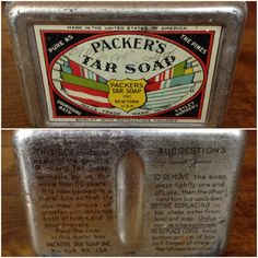 Packer's Tar Soap circa 1930s $30 www.cabootle.com