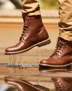 Men's All Weather Boot Black Leather Shoes, Leather Boots, Mens Heeled Boots, Ll Bean Duck Boots, Mens Boots Fashion, Mens Boots Style, All Weather Boots, Stylish Mens Outfits, Casual Boots
