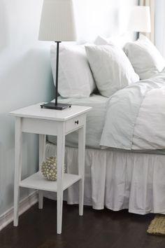 Jenna Sue: Ikea Hemnes nightstand hack - Home & DIY Bedroom Sets, Diy Bedroom Decor, Diy Home Decor, Bedrooms, Master Bedroom, Ikea Bedroom, White Bedroom, Ikea Hemnes Nightstand, Nightstands