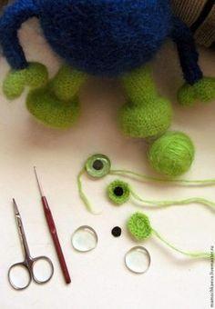 Делаем глазки для вязаных и текстильных игрушек — простые и почти универсальные - Ярмарка Мастеров - ручная работа, handmade