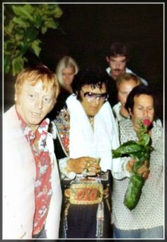 """Elvis and His Entourage, """"The Memphis Mafia"""".....Buddies From High School, the Military Who Not Only Worked For Elvis, But Were His Only Friends....In the End, Many Had Left...Sadly..."""