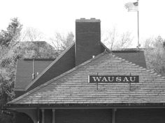 Employer's Insurance of Wausau - the train depot was their logo. I rode a passenger train to this depot when I was in kindergarten.