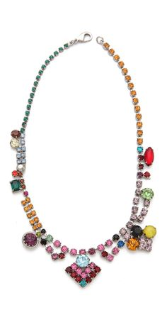 Faux Real Multi Crystal Necklace