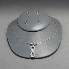 Collar y aretes de plata.Joyería de moda, necklace in sterling silver.