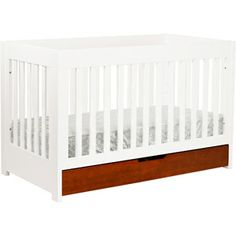 Baby Mod - ParkLane 3-in-1 Baby Convertible Crib, Amber and White *Note: John & Sherry from YoungHouseLove chose this for Clara and baby boy P