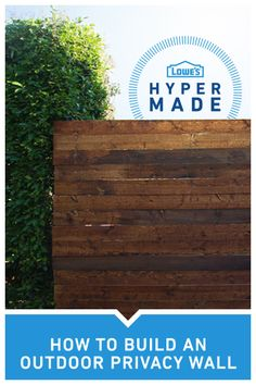 A little privacy, please! Be able to relax in peace and quiet  by creating this simple outdoor privacy screen.