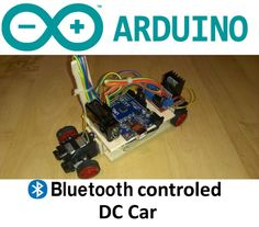 Arduino Bluetooth Controled RC Car: In this instructable I am going to show you how to make Bluetooth controled car with 2 DC motors. Arduino Bluetooth, Bluetooth Gadgets, Remote Control Boat, Radio Control, Boat Radio, Diy Go Kart, Smart Robot, Rc Autos, Rc Model