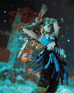Bae-Loy, I MEAN ALOY! ❤ Video Game Art, Video Games, Conquest Of Mythodea, Horizon Zero Dawn Aloy, Pose Reference Photo, Strange Events, Character Inspiration, Character Design, Viking Warrior