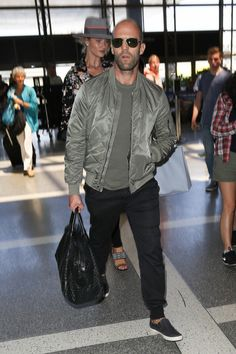 Rosie Huntington-Whiteley and Jason Statham Visit LAX