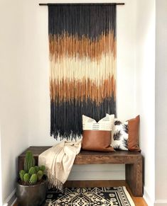Tapestry perfection from @leloboho #tapestrydecor #tapestryweaving #handmadetapestry #fiberart #fiberartist #getthemodboholook #thenewbohemians #homedecorinspo #homebeautiful #apartmenttherapy #sodomino #homedecor #decorinspo #howyouhome #styleathome