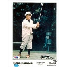 Autograph Warehouse 40552 Gene Sarazen Autographed 8 x 10 Photo Golf PSA Gene Sarazen, Us Open Golf, British Open, Warehouse, Baseball Cards, History, Sports, Vintage, Hs Sports
