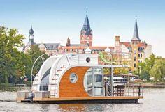 Nautino Premium Mini - Mit diesem führerscheinfreien Hausboot steht Dir die Wasserwelt Berlin-Brandenburgs offen. #Hausboot #travel #holidays #Sommer #special