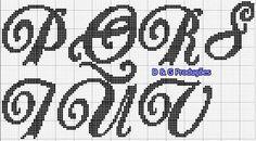 Alphabet cross stitch 3/4