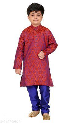 Kurta Sets Vesh Cotton Kurta Pajama Set for Boys Kids Top Fabric: Cotton Bottom Fabric: Dupion Silk Sleeve Length: Long Sleeves Bottom Type: pyjamas Top Pattern: Embellished Multipack: 1 Sizes:  4-5 Years (Top Bust Size: 26 in, Top Length Size: 24 in, Bottom Waist Size: 22 in, Bottom Length Size: 22 in)  5-6 Years (Top Bust Size: 27 in, Top Length Size: 26 in, Bottom Waist Size: 23 in, Bottom Length Size: 23 in)  3-4 Years (Top Bust Size: 25 in, Top Length Size: 22 in, Bottom Waist Size: 22 in, Bottom Length Size: 21 in)  8-9 Years (Top Bust Size: 32 in, Top Length Size: 32 in, Bottom Waist Size: 28 in, Bottom Length Size: 28 in)  6-7 Years (Top Bust Size: 28 in, Top Length Size: 28 in, Bottom Waist Size: 24 in, Bottom Length Size: 24 in)  7-8 Years (Top Bust Size: 30 in, Top Length Size: 30 in, Bottom Waist Size: 26 in, Bottom Length Size: 26 in)  9-10 Years (Top Bust Size: 34 in, Top Length Size: 34 in, Bottom Waist Size: 30 in, Bottom Length Size: 30 in)  2-3 Years (Top Bust Size: 24 in, Top Length Size: 20 in, Bottom Waist Size: 22 in, Bottom Length Size: 20 in)  Country of Origin: India Sizes Available: 2-3 Years, 3-4 Years, 4-5 Years, 5-6 Years, 6-7 Years, 7-8 Years, 8-9 Years, 9-10 Years   Catalog Rating: ★4 (666)  Catalog Name: Pretty Funky Kids Boys Kurta Sets CatalogID_3209445 C58-SC1170 Code: 313-16142404-057