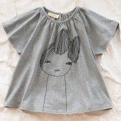 Girl with bow shirt @Justine Pocock jennings a t shirt peasant blouse for lucy?