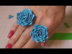 How to make a Duct tape flower ring - YouTube