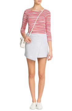 Angel Striped Cotton Top SEAFARER € 109    product	 Structured Jersey Skirt MARC BY MARC JACOBS € 249    product	 Croc-Embossed Leather Sally Shoulder Bag MARC BY MARC JACOBS € 245    product	 Perforated Leather Slip-On Sneakers MARC BY MARC JACOBS € 189