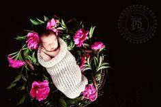 #newbornphotography, #newborn photography, #baby photography  fresh flowers