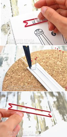 3D paper strip banner outline   tutorial by Jennifer Rzasa at Our Change of Art