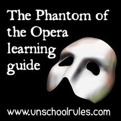 The Phantom of the Opera is there. inside our minds! A learning guide for this popular book/movie series from Our School at Home. Teaching Music, Teaching Kids, Online Music Lessons, English Fun, Music Education, Music Class, Phantom Of The Opera, Middle School, High School