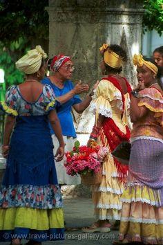 women in traditional dress, Havana