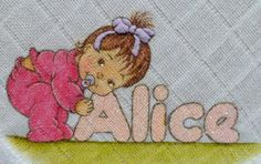 ALICE Lil Boy, Little Girls, Alice, Gif Photo, Baby Disney, Fabric Painting, Embroidery Patterns, Textiles, Coloring Books