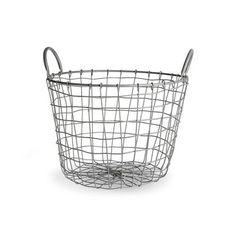 Dekoobjekt Korb Metall grau ca D:34 x H:24 cm