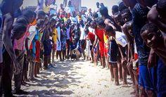 Kids celebrating Eid, Somalia