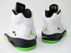 Air Jordan 5 Quai 54 - White / Radiant Green - blk