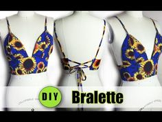 **IMPORTANT** DIY Bralette Instructions: Take the proper measurements needed that is illustrated in the video. The band measurement for the bralette should b. Diy Fashion, Ideias Fashion, Fashion Outfits, Fashion Clothes, Fashion Ideas, Alexander Wang, Diy Bralette, Halter Bralette, Ropa Interior Boxers