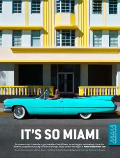 Cadillac: #ArtDeco architecture and classic convertibles. Somehow they were just meant to go together. It's So Miami. #Miami