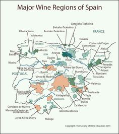 Society of Wine Educators - Map of Spain Boot Camp, Society Of Wine Educators, Wine Tasting Near Me, Wine Folly, Chateauneuf Du Pape, Wine Education, Spanish Wine, Wine Guide, Spiritus