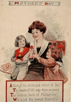 Happiest vintage Mother's Day wishes! #vintage #Mothers_Days #holidays #cards