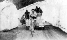Fausto Coppi on Passo dello Stelvio in 1953.